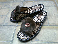 Женские тапочки леопардовые Белста