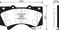 Колодка тормозная Toyota LAND CRUISER 100 4.2D J100 1998- передн. (производство Sangsin brake ), код запчасти: SP1381