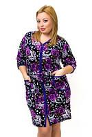 Женский домашний велюровый халат