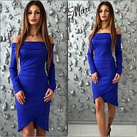 Женское стильное платье из трикотажа (4 цвета)