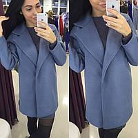 Пальто из шерсти, цвет синий