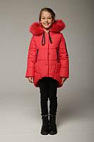Куртка зимняя для девочки Мая красная