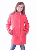 Детское кашемировое пальто для девочки демисезонное красное и вишневое