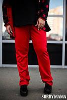 Свободные женские брюки в батальных размерах o-1015886