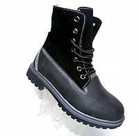 Зимние высокие ботинки на шнуровке