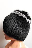 Женская качественная меховая шапка из кролика на трикотажной основе, от производителя, кубанка