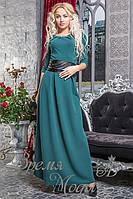 Платье зелёное с поясом. 3 цвета