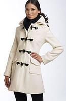 Короткое кашемировое пальто с пуговицами