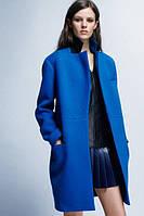 Пальто средней длины с потайной застежкой