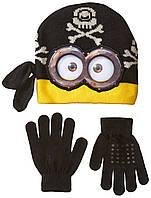 Демисезонный комплект шапка и перчатки Minion Despicable Me; универсальный размер