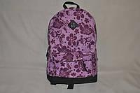 Городской рюкзак фиолетовый цветочный принт
