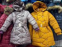 Зимнее теплое пальто для девочек 6-10 лет опт и розница S461