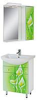 """Комплект мебели для ванной комнаты """"Салатовые каллы"""" (правый )"""