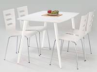 Белый прямоугольный стол Halmar Omega с деревянным каркасом