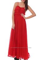 Платье в пол на  выпускное красное манго Mango
