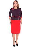 Платье женское красное размер 58