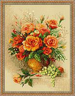 Набор для вышивания RIOLIS PREMIUM «Чайные розы» (100/049)
