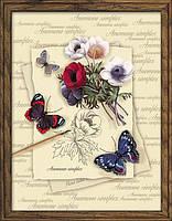 Набор для вышивания Риолис РТ-0002 Бабочки с анемонами