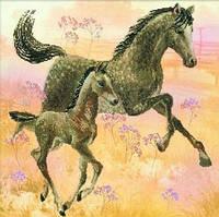 Набор для вышивания Риолис РТ-0004 Лошадь с жеребенком