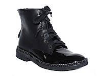 Женские кожаные ботинки с цепочкой на подошве
