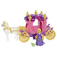 Карета Принцессы Дисней Рапунцель с конем Максимусом и питомцем Хамелеоном. Оригинал Mattel