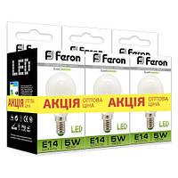 """Светодиодная лампа Feron LB95 5W E14/E27 4000K """"Шарик"""" 3 шт. в упаковке"""