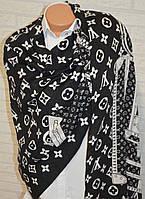 Стильный двусторонний палантин Louis Vuitton черный