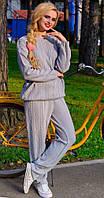 Костюм женский вязаный светло серый