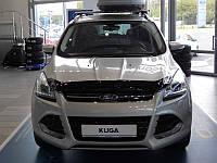 Дефлектор капота (мухобойка) на Форд Куга с 2013> (на крепижах) SIM.