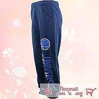 Спортивные штаны с начёсом Синего цвета для мальчика от 5 до 8 лет (4748-2)