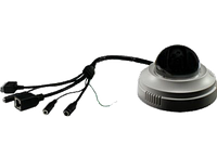 Grandstream GXV3611_HD, Fixed Dome High Definition IP Camera, 1/3.2, 2-Megapixel CMOS, 1,600H x 1,200V, PoE, Integrated microphone and speaker