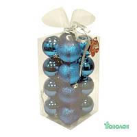 Яяя Ел. Набор НГ шаров пласт. JNP12-001-LB Angel Gifts