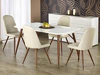 Белый прямоугольный стол Halmar Richard на стальных ножках