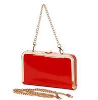 Клатч-бокс сумочка женская красная лаковая Rose Heart 8632