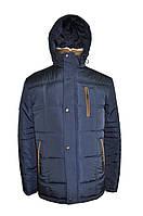 Куртка мужская зимняя на меху KZ-4-BR синий с коричневым
