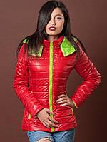 Молодежная курточка контрастной расцветки