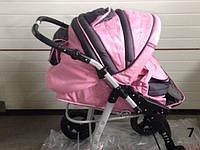 Детская коляска трансформер MIKRUS JAGUAR  розовый