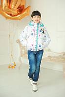 Весенняя куртка-трансформер для девочки, белая
