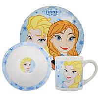 Набор посуды керамической в подарочной упаковке Анна и Эльза Frozen Porcelain 3 Piece Dinner Set FROZEN