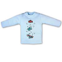 Детский джемпер длинный рукав с кнопками на плече с накатом, на рост - 68, 74 см. (арт.91-14н)