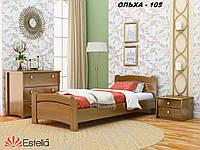 Кровать Венеция односпальная Бук Щит 105 (Эстелла-ТМ)