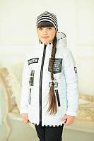 Демисезонная куртка для девочки Бони, белая