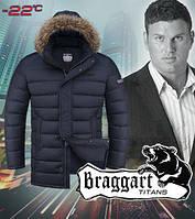 Куртка с меховым капюшоном зимняя