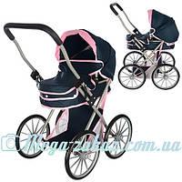 Детская коляска для кукол Классика (металл): 58х77х39см, корзина для игрушек