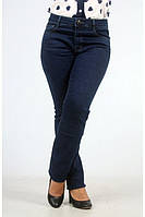 Женские батальные джинсы с высокой посадкой.