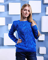 Модный свитер ажурной вязки