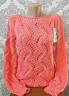 Красивый ажурный свитер