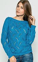 Нарядный свитер с ажурной вязкой