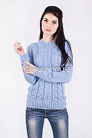Свитер женский вязаный Palvira голубой 44 pal 5078