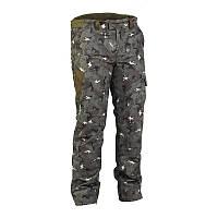 Зимние штаны, брюки мужские охотничьи водонепроницаемые Solognac 100, камуфляжные